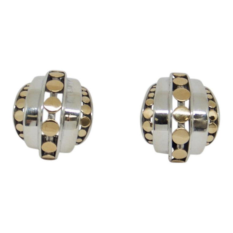 John Hardy Buddha Belly Dot Deco Hoop Earrings