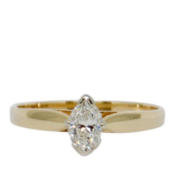 Solitaire Marquise Cut Diamond Engagement Ring