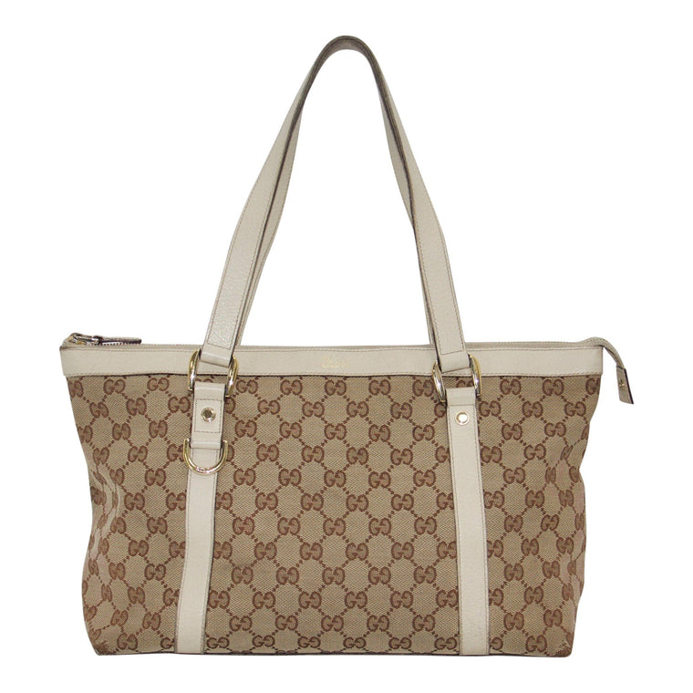 Gucci Gg Canvas Medium Abbey Tote - Bags