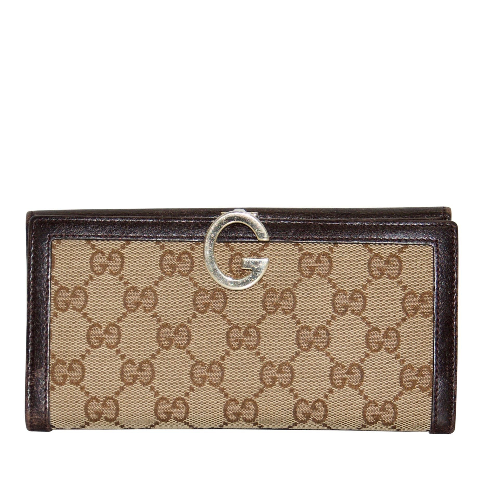 594cdd4a4ec Gucci GG Canvas Continental Wallet - Oliver Jewellery