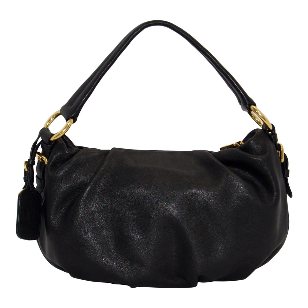 Prada Black Soft Calf Hobo - Bags