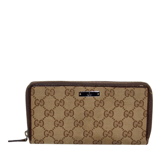 Gucci GG Canvas Zip Wallet Wallets Gucci