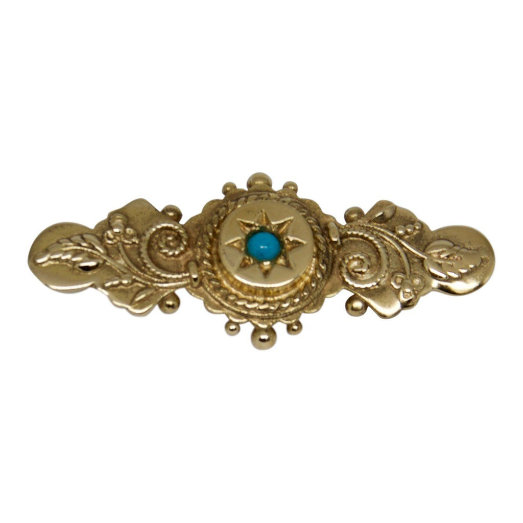 Antique Turquoise Bar Brooch - Brooches & Pins