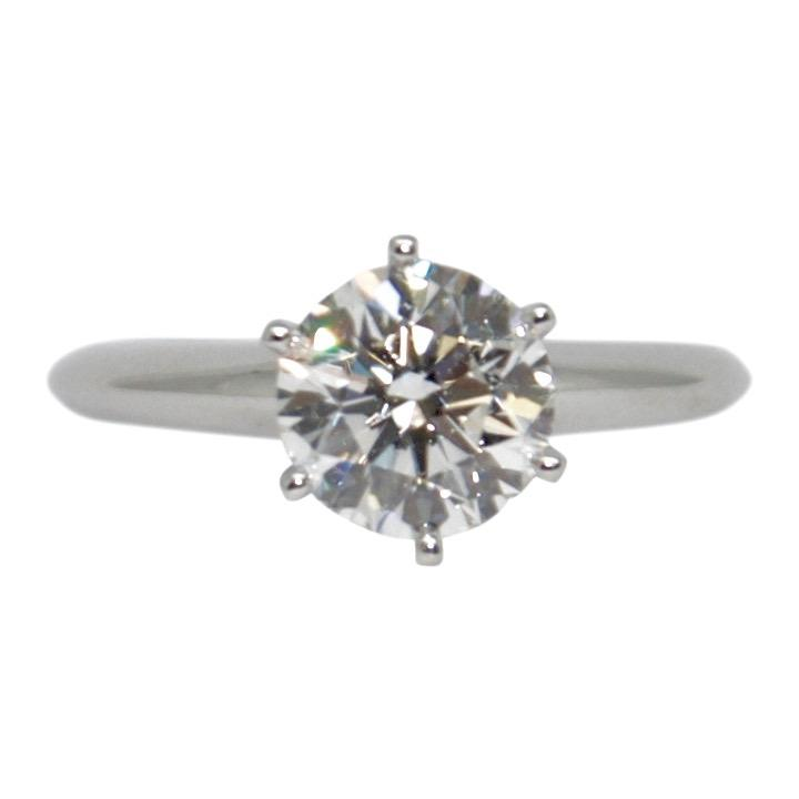 Tiffany & Co. Diamond Solitaire Engagement Ring - Rings