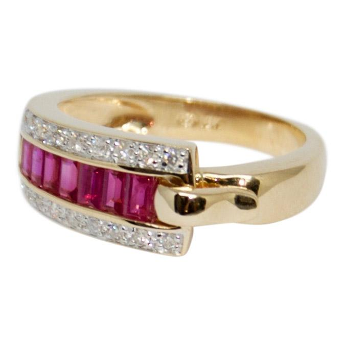 Guy Laroche Ruby and Diamond Ring Rings Miscellaneous
