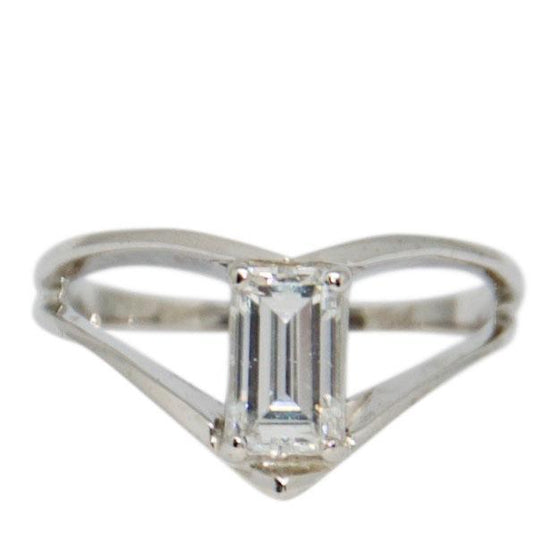 Emerald Cut Diamond Engagement Ring Rings Miscellaneous