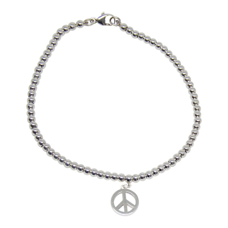 Tiffany & Co. Mini Peace Charm Bead Bracelet