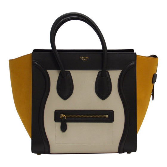 Celine Tricolour Mini Luggage Tote Bags Celine