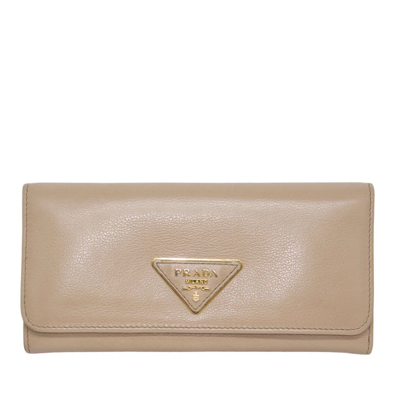 Prada Leather Wallet Wallets Prada