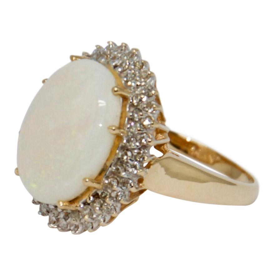 Opal and Diamond Ring Rings Miscellaneous