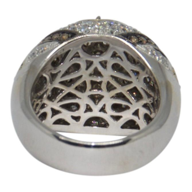 Pave Coloured Diamond Dome Ring - Rings