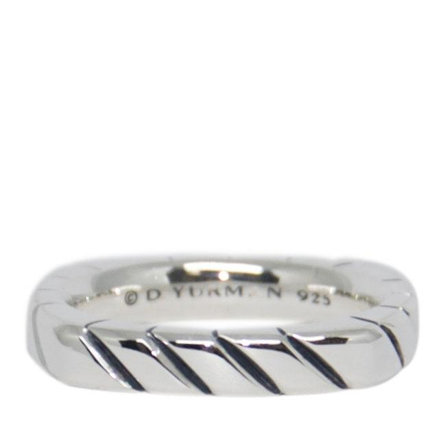 David Yurman Square Cable Narrow Band Ring Men's Jewellery David Yurman