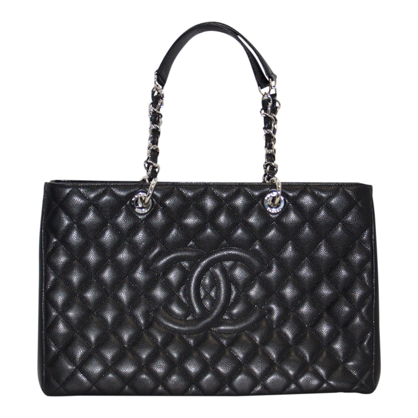 6536d778cfe7 Chanel Black Caviar Leather XL Grand Shopping Tote (GST) Bags Chanel ...