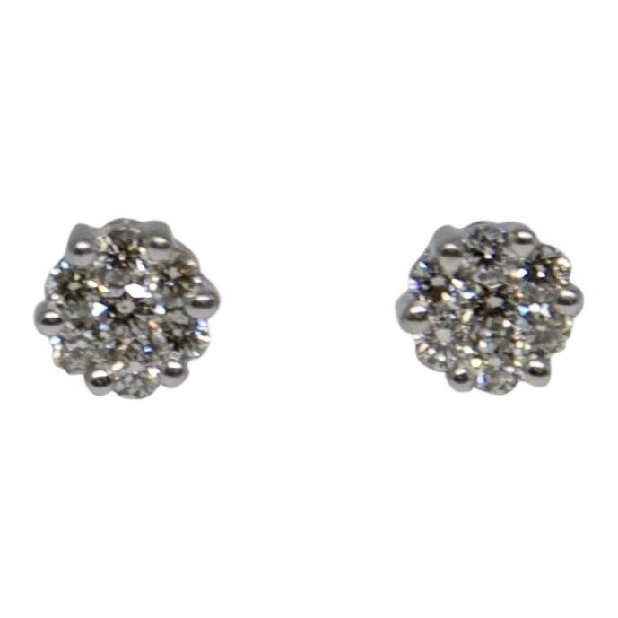 Diamond Cluster Stud Earrings Earrings Miscellaneous