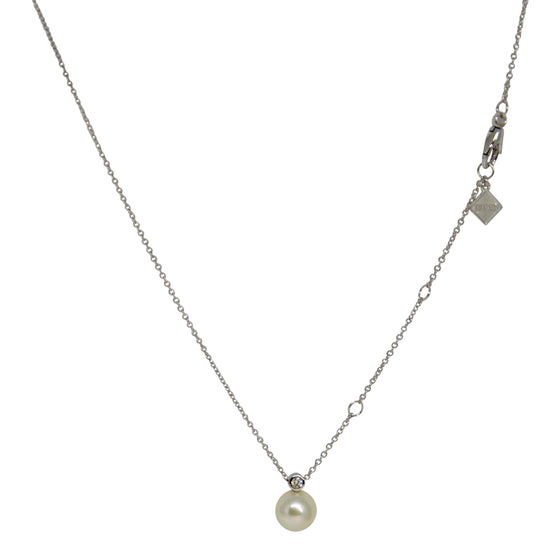 Birks Pearl And Diamond Pendant Necklace - Necklaces