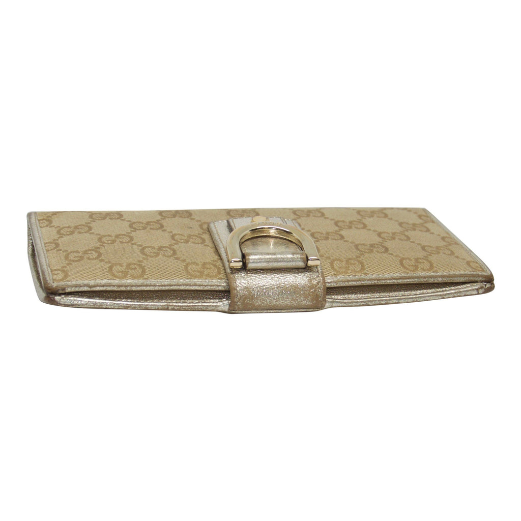 Gucci GG Canvas Continental Wallet Wallets Gucci