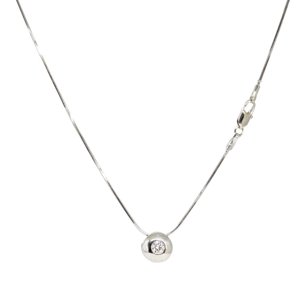 Bezel-Set Diamond Solitaire Pendant Necklace Necklaces Miscellaneous