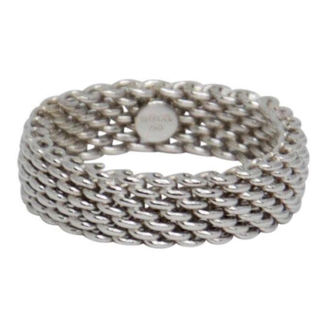 91f2acdc3 Tiffany & Co. Narrow Somerset Mesh Ring– Oliver Jewellery