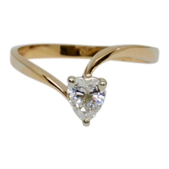 Heart Shaped Diamond Solitaire Ring Rings Miscellaneous