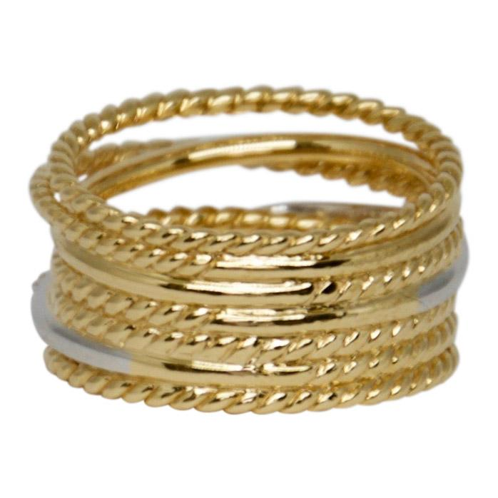 David Yurman Gold Crossover Wide Ring with Diamonds Rings David Yurman