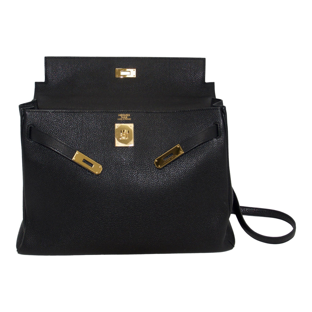 Hermes Black Kelly 35 Bags Hermes
