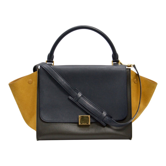 Celine Tricolour Medium Trapeze Bag Bags Celine