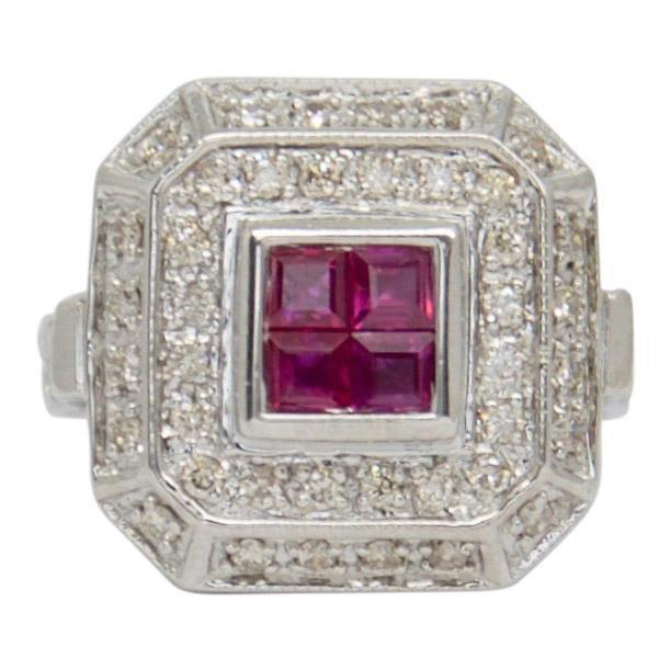 Ruby and Diamond Ring Rings Miscellaneous