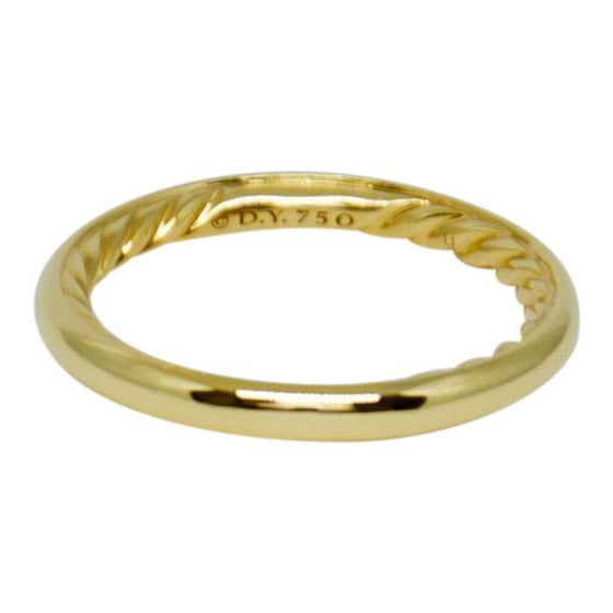 David Yurman Gold Dy Eden Smooth Wedding Band - Rings