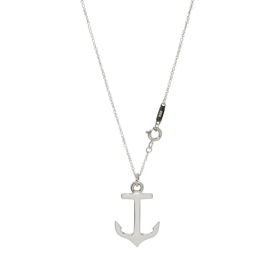 Tiffany & Co. Anchor Pendant Necklace