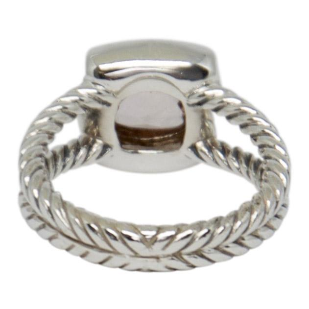 David Yurman Petite Albion Ring With Morganite And Diamonds - Rings