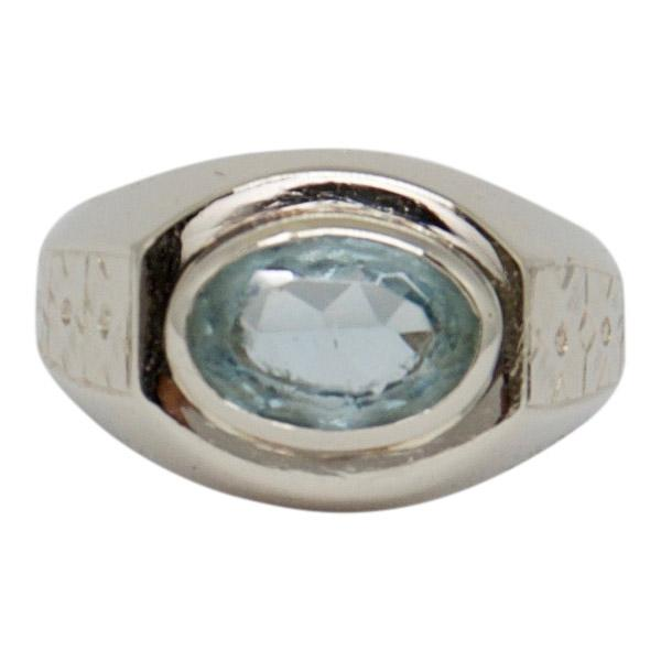 Antique Aquamarine Solitaire Ring