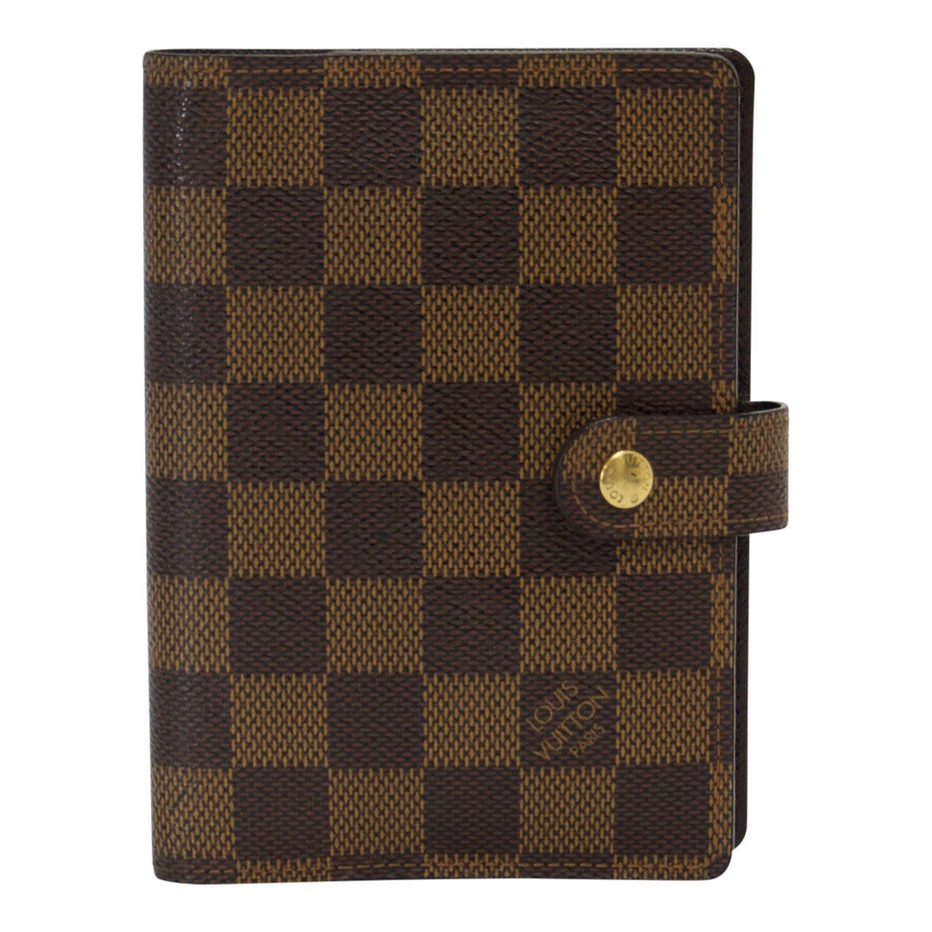 Louis Vuitton Damier Ebene Small Ring Agenda Cover Accessories Louis Vuitton