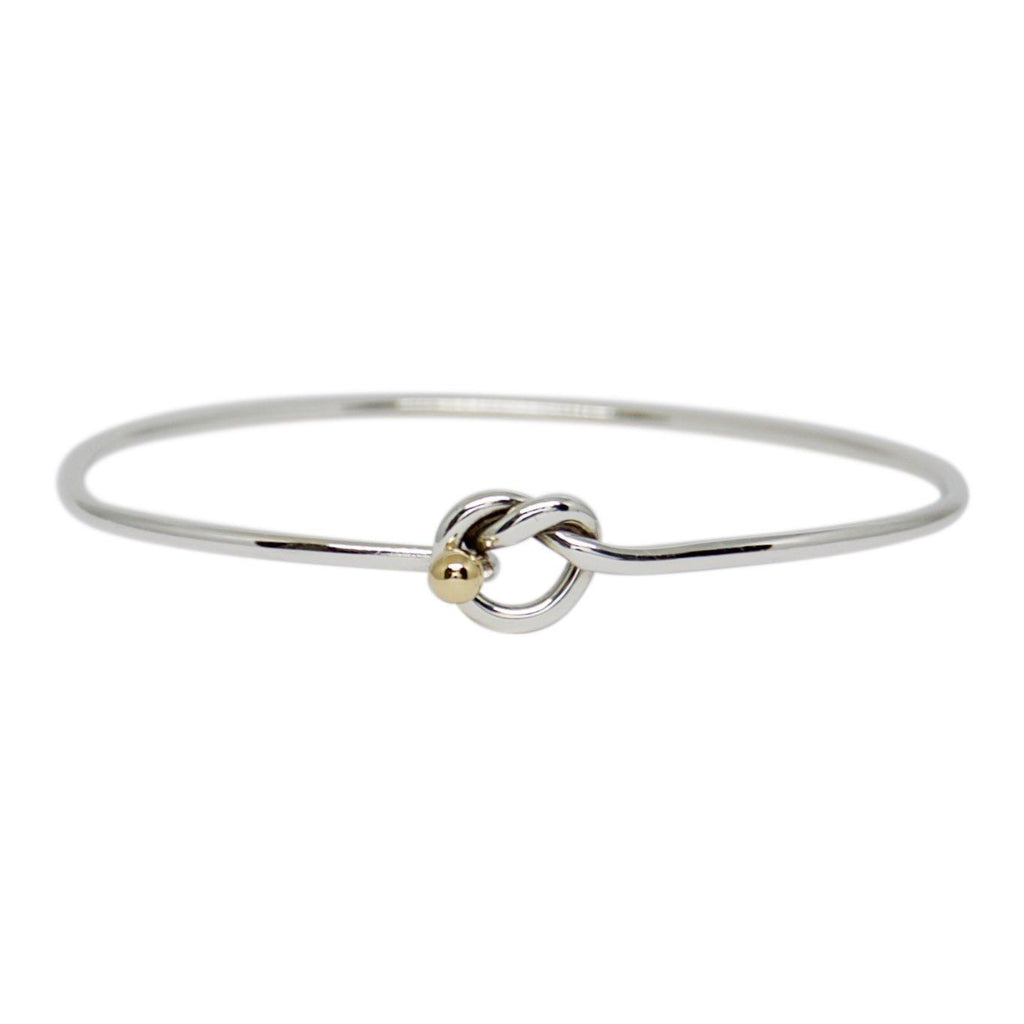 Tiffany & Co. Vintage Two-Tone Knot Bangle Bracelets Tiffany & Co.