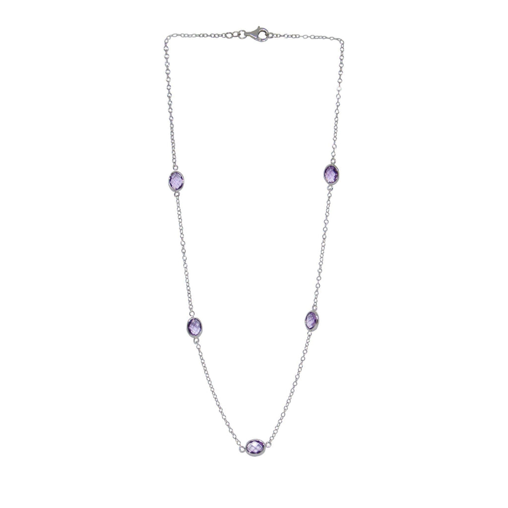 Amethyst Station Necklace Necklaces Miscellaneous