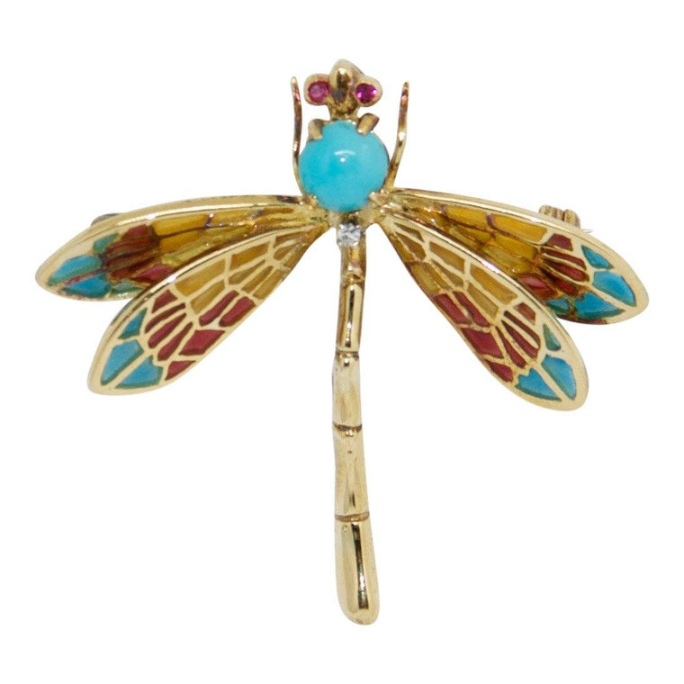 Tiffany & Co. Vintage Dragonfly Brooch