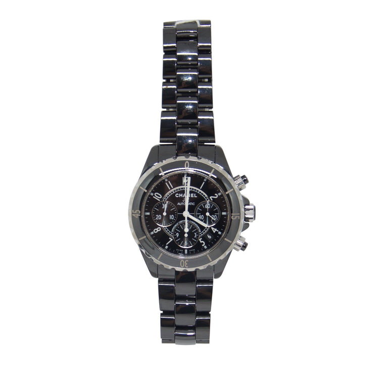 Chanel J12 Black Ceramic Chronograph Watch