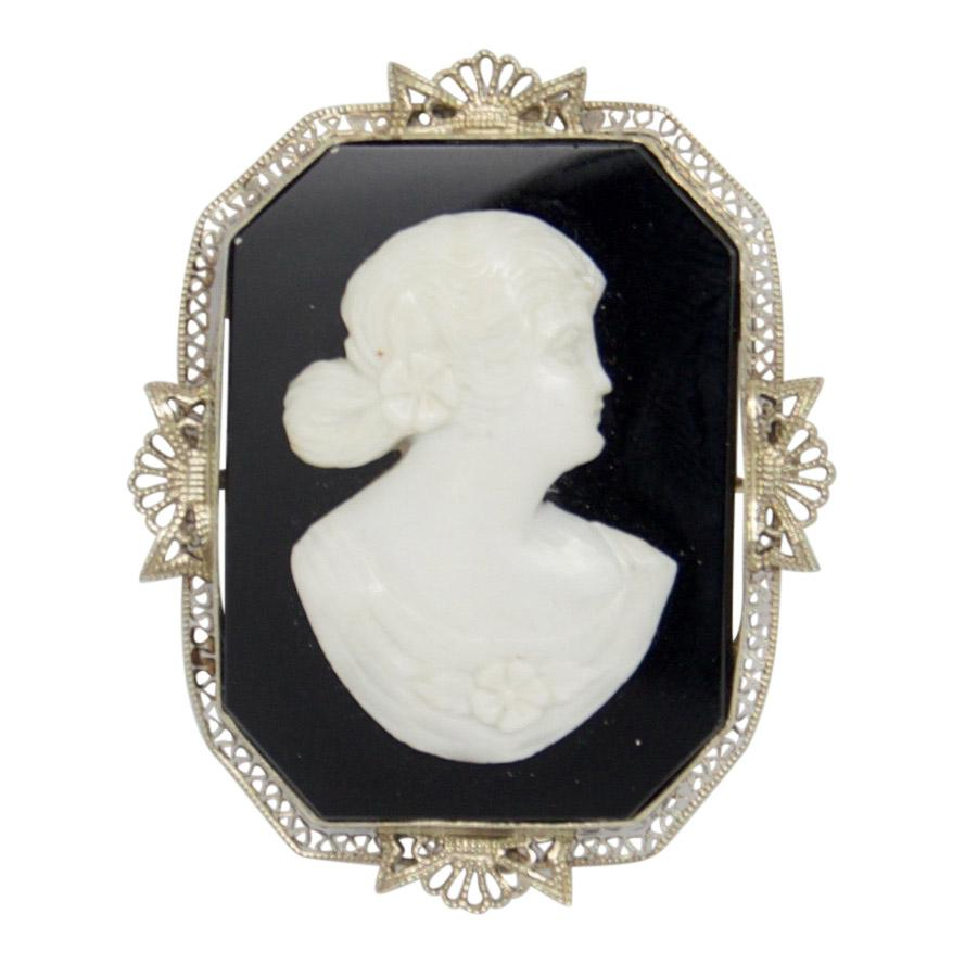 Antique Cameo Brooch - Brooches & Pins