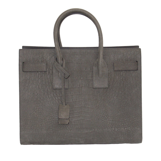 Yves Saint Laurent Crocodile-Embossed Sac De Jour Bags YSL