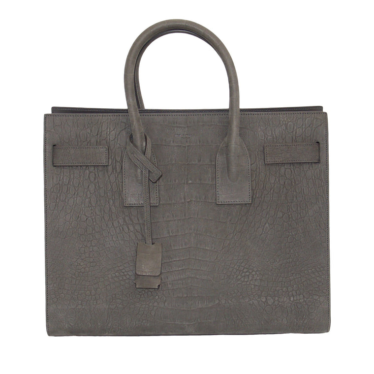 Yves Saint Laurent Crocodile-Embossed Sac De Jour