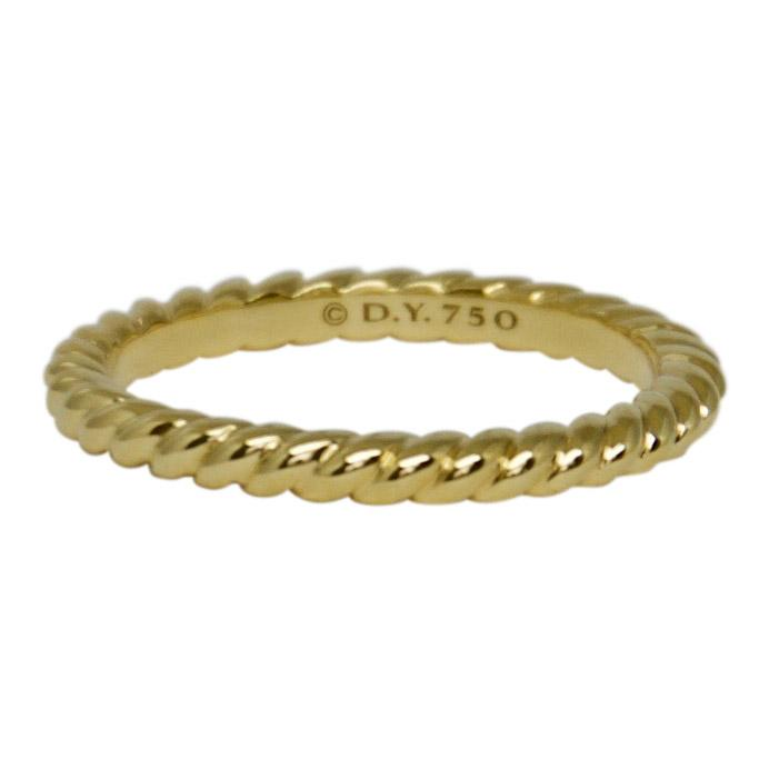 David Yurman Gold Unity Cable Wedding Band Ring