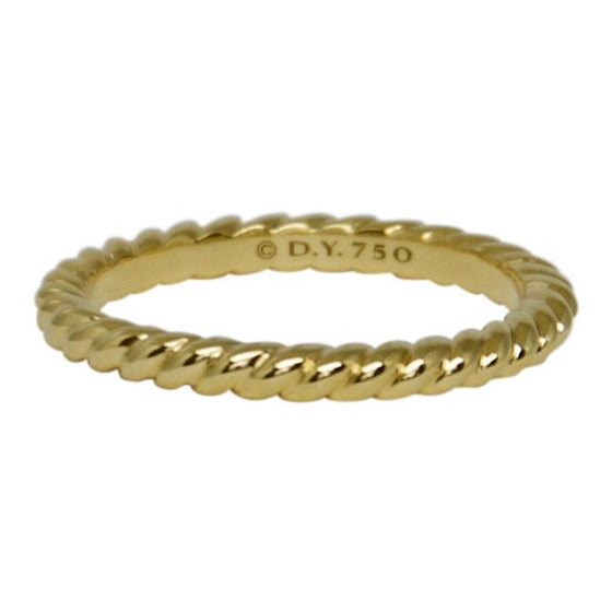David Yurman Gold Unity Cable Wedding Band Ring - Rings