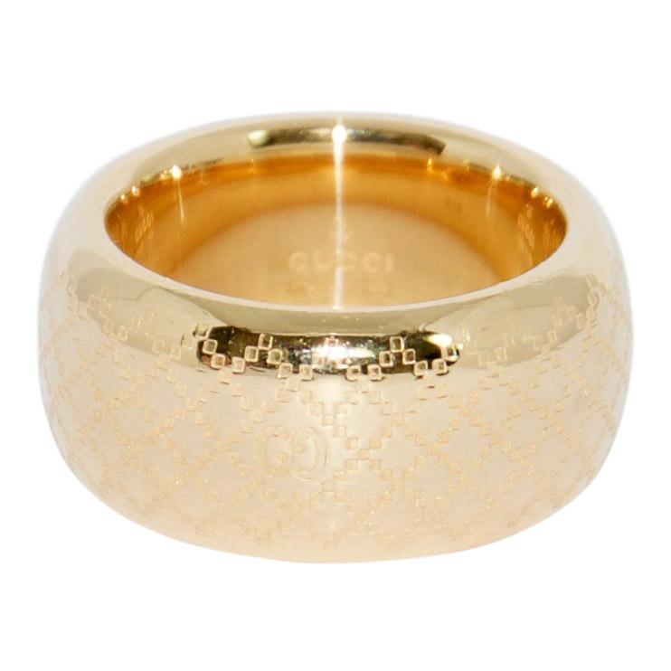 Gucci Wide Diamantissima Band Ring