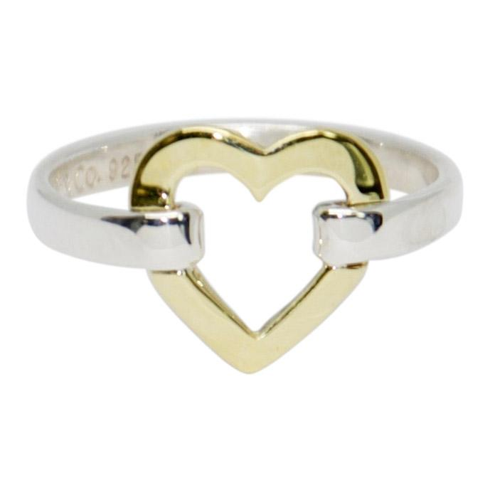 Tiffany Co Two Tone Heart Ring Oliver Jewellery