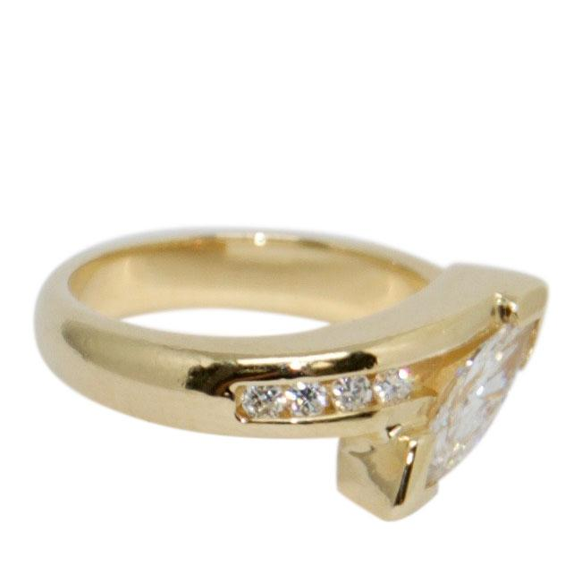 Marquise Cut Diamond Ring Rings Miscellaneous