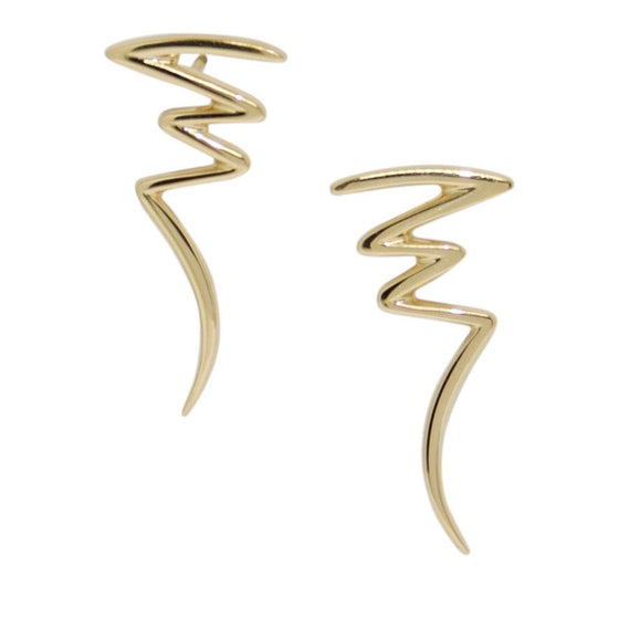 Tiffany & Co. Paloma Picasso Gold Scribble Earrings Earrings Tiffany & Co.