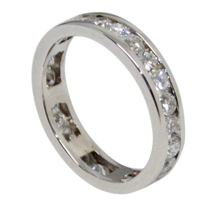 Channel-Set Diamond Eternity Band Ring