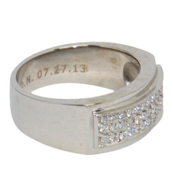 Gent's Three-Row Diamond Ring Men's Jewellery Miscellaneous