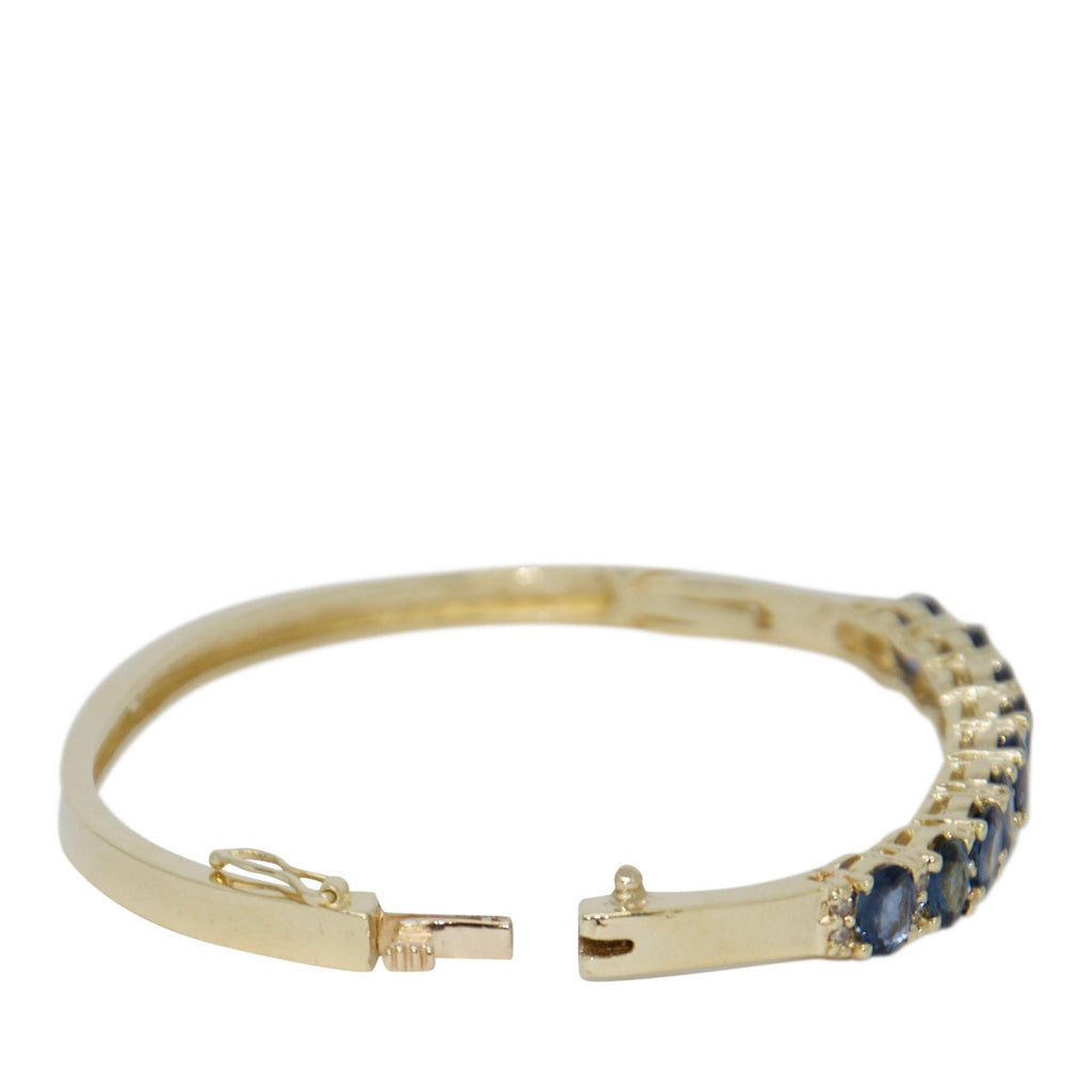 Sapphire & Diamond Bangle Bracelet Bracelets Miscellaneous