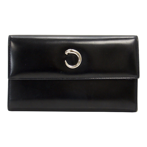 Cartier Black Panthere Tri-Fold Wallet - Wallets