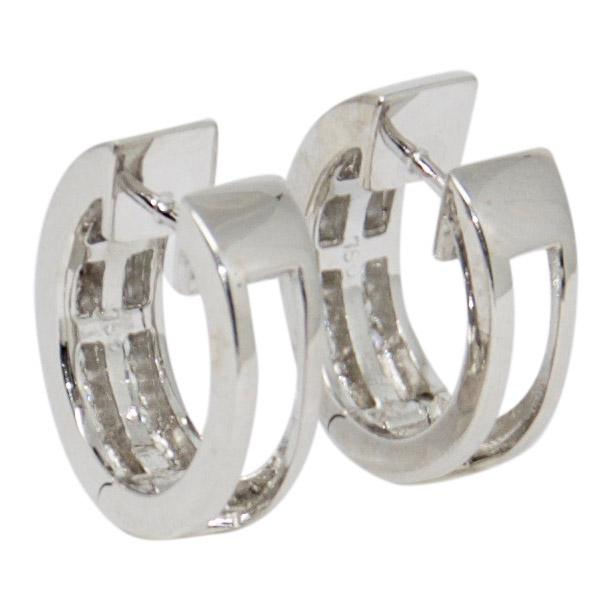 Two-Row Diamond Huggy Earrings - Earrings